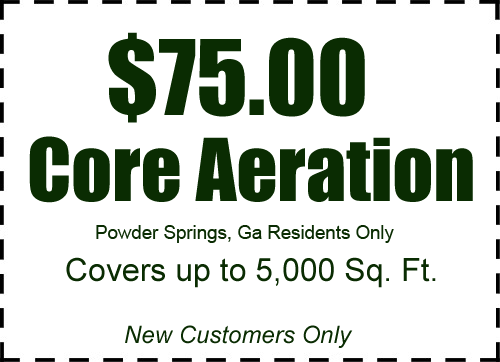 $50.00 Core Aeration in Powder Springs, GA!